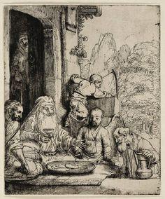 Mijn favoriete Rembrandt in Teylers Museum: Abraham en de drie engelen (B29)