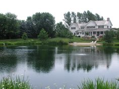 Farm pond pond landscaping house and farm pond for How much does it cost to build a fishing pond