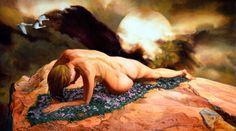 """""""Clytie"""" oils on panel, 20x30 Joseph Bellofatto (c)2017 #art #painting #mythology #finearts #fantasyart"""