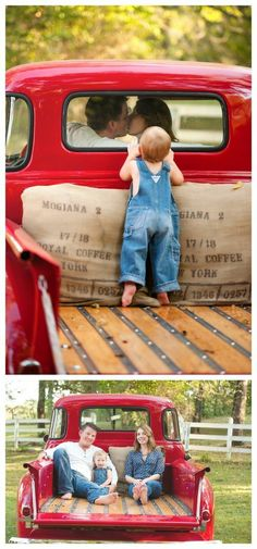 Vintage Truck Christmas Photoshoot Ideas For 2019 Cute Photos, Baby Photos, Family Photos, Farm Family Pictures, Vintage Family Pictures, Vintage Photos, Old Truck Photography, Family Photography, Photography Ideas