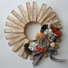 Fall Vintage 9 Wooden Ruler Wreath Kit from Maya by paperissues