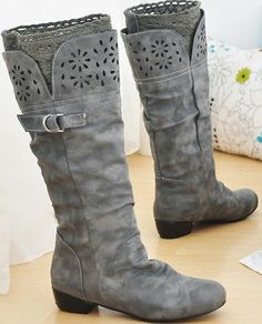 Lace sock boot