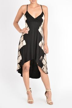 High Low Wrap Dress T Party Fashion