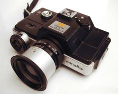 110 minolta slr zoom. This is on it's way to my house. It is a 110 camera with a zoom lens. I'll let you think about that for a minute....