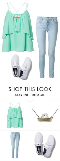 """Untitled #313"" by hannahmcpherson12 ❤ liked on Polyvore featuring Vero Moda, Disney, Frame Denim and Keds"