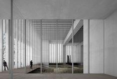 Museo delle Belle arti di Reims, situato al passaggio tra la città antica e la parte moderna. Il design proposto da Chipperfield consta di tre volumi con tetto inclinato, che formano un unicum compatto dalla facciata di marmo e pannelli in vetro ceramica. L'estetica della struttura mira alla leggerezza e linearità.