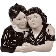 Little Rascals Our Gang Alfalfa Hugging Darla Ceramic Cookie Jar