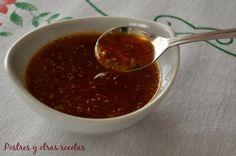 Salsa chimichurri imprescindible para el churrasco. postresyotrasrecetas.blogspot.com