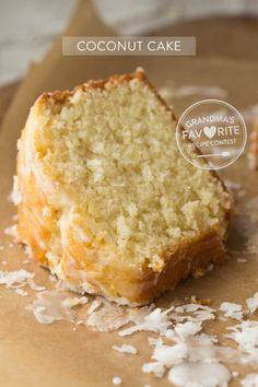 grandma's coconut cake made it with a handful of coconut, coconut milk and additional 1/4 tsp almond extract