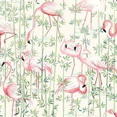Tissu flamands roses : Tissus à thème par kamea
