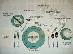 Kids Do Not Know How To Set The Table For Dinnerwe Should Teach - How to set up a dinner table properly