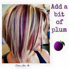 A dash of plum hair colour by rockyourlocks.com.au