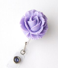 Lavendar Blossom  ID Badge Holder  Flower Badge by BadgeBlooms, $8.00