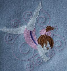 Wool Ballerina/Gymnast Baby Receiving Blanket