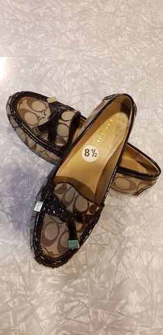 72693d50f8c New Coach Brown Loafers Size 8.5  fashion  clothing  shoes  accessories   womensshoes