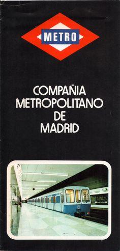 ESPAÑA Madrid 1976. Plano de la Red del Metro