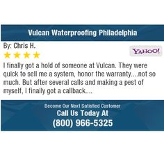 I finally got a hold of someone at Vulcan. They were quick to sell me a system, honor the...