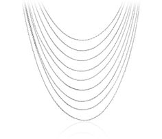 Layered Strand Necklace in Sterling Silver #BlueNile #MothersDay #jewelry