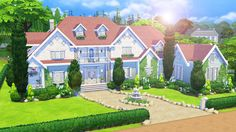 AvelineSims — Whitewater Estate This mansion took me 8½ hours to...