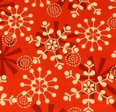 """Snowflake on Red Fabric  Five - 6""""  Cotton Fabric Block Quilt Charm  5 Pieces Cute Christmas Fabric  # 301-497 by AlwaysInStitchesCo on Etsy"""