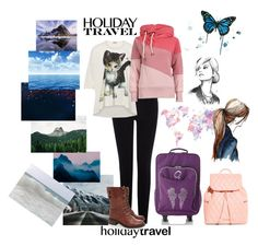 """Traveling"" by nina-chic ❤ liked on Polyvore featuring Warehouse, Vivienne Westwood, Vera Bradley, Grace, Sam Edelman and travelinstyle"