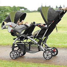 Elite Sit n Stand Double Stroller from One Step Ahead