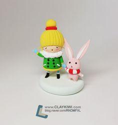 노란 머리 소녀와 토끼 만들기 :: 네이버 블로그
