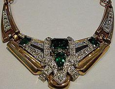 1940'S McClelland Barclay Art Deco Emerald Green