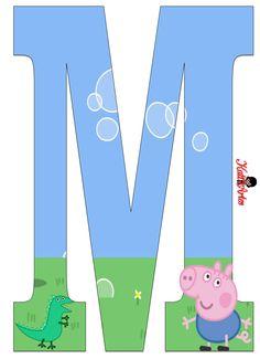 EUGENIA - KATIA ARTES - BLOG DE LETRAS PERSONALIZADAS E ALGUMAS COISINHAS: Junho 2014 Pig Birthday Cakes, Boy Birthday, Abecedario Baby Shower, Cumple George Pig, George Pig Party, Papa Pig, Childrens Cupcakes, Aniversario Peppa Pig, Cumple Peppa Pig