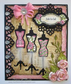 Designs by Marisa: JustRite Papercraft August Release - Ooh La La Card