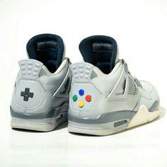 buy popular 1542c a5288 nike JRDN Ⅳ - Controller Custom Edition - SUPER NINTENDO. Jordan 4, Custom  Sneakers