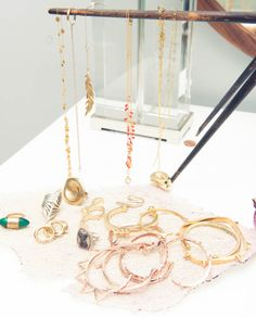 The Coveteur visits the home of Athena Calderone. Leila Yavari, The Coveteur, Pamela Love, All That Glitters, Jewelry Box, Jewellery, Jewelry Ideas, Diamond Are A Girls Best Friend, Give It To Me