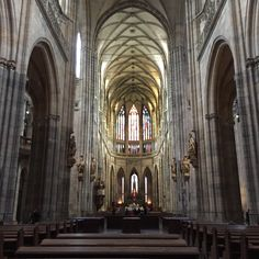 Inside Prague Castle.