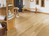 17th Century Character/Prime grade solid oak flooring in smoked white colour