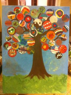 K or Grade class art project School Auction Projects, Class Art Projects, Classroom Art Projects, Art Classroom, Auction Ideas, School Fundraisers, Collaborative Art, Teaching Art, Art Plastique