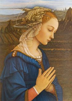 """Lucrezia Buti  """"A muse deviously gained by the painter Fra Filippo Lippi. She was the model for several portraits of the Holy Mother."""" -WSJ http://online.wsj.com/article/SB124242927020125473.html#"""