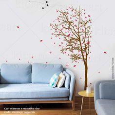 Lindo adesivo de Parede Árvore da Felicidade, acompanham vários pássaros. Veja mais modelos em nosso site: www.kitsart.com.br
