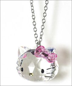 Hello Kitty Swarovski Collaboration Crystal Necklace Limited RARE Sanrio Japan | eBay