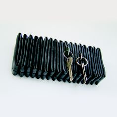 PJOO Petra Jäger Objekte // Cyczak // home accessory made of folded inner tubes