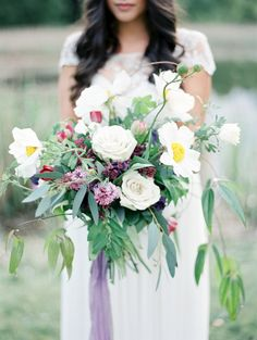 A Hint of Amethyst by Botany and Co, photo by Christie Graham Photography | The 40 Most Beautiful Bouquets Ever