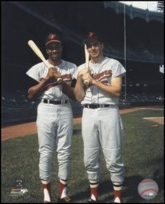 Frank Robinson and Brooks Robinson Baltimore Orioles, Best Baseball Player, Cleveland Indians, Back In The Day, Hipster, Boys, Fitness, Sports, Hipsters