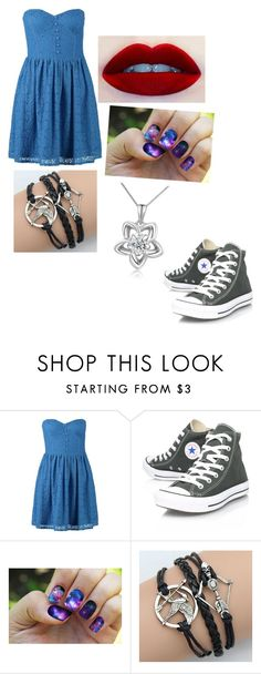 """""""idk something"""" by princessnia16 ❤ liked on Polyvore featuring New Look, Converse and MaBelle"""