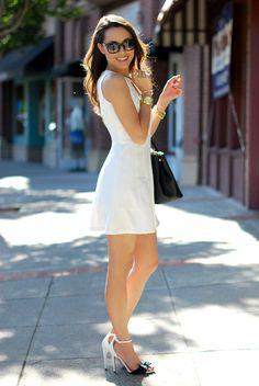 Perfect saturday in white dress