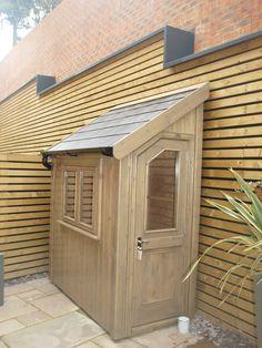 Garden Sheds Uk, Garden Tool Shed, Garden Storage Shed, Backyard Sheds, Patio Balcony Ideas, Posh Sheds, Corner Sheds, Backyard Storage, Small Sheds