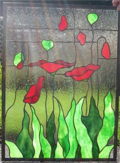 poppies stain glass - Google Search