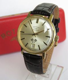 Antiques Atlas - Gents 1960s Boxed Rotary GT Automatic Wristwatch Rotary Watches, Old Watches, Vintage Watches, Watches For Men, Pocket Watches, Wrist Watches, Daytona Watch, Authentic Watches, Beautiful Watches