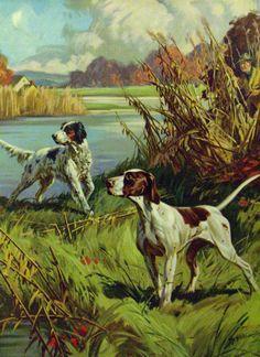 Vintage Illustration Art, Vintage Art Prints, Hunter Dog, Animal Art Prints, Crazy Dog Lady, Cowboy Art, Vintage Dog, Hunting Dogs, Wildlife Art