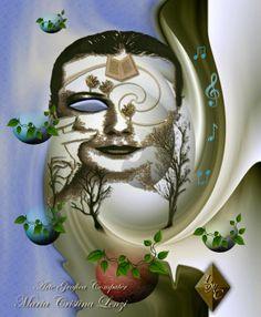 """Titolo: """"Arte, il respiro della mente"""" Grafica computer di Maria Cristina Lenzi"""