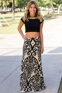 Get this pretty Aqua & Gray Printed Maxi Skirt from Saved by the Dress Online Boutique. Great Aqua & Gray maxi skirt for everyday wear. Maxis, Grey Maxi Skirts, Printed Maxi Skirts, Women's Dresses, Dresses Online, Body Lingerie, 1920s Fashion Women, Mode Chic, Cute Crop Tops
