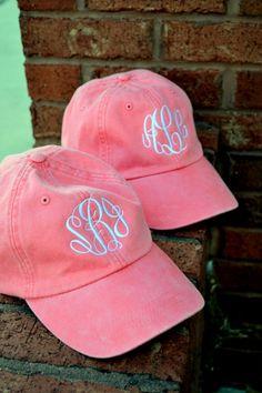 MONOGRAMMED Baseball Hat Cap ASSORTED COLORS - Bridesmaid Gift - Sorority - Greek - Bridal Shower